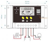 Solar panel regulator 50A
